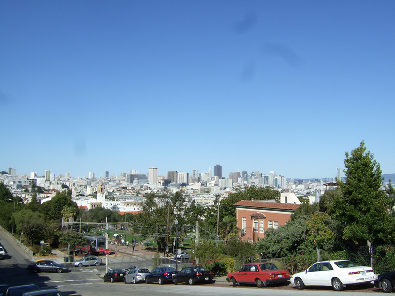Overlooking the city from somewhere near Castro.