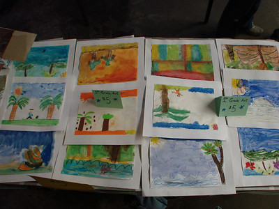 Love 4 Haiti  http://www.love4haiti.net/ Art by first graders at Burnley-Moran Elementary School Charlottesville, VA