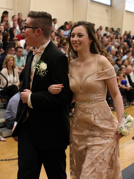 Lowell Catholic's pre-prom promenade. (SUN/Julia Malakie)