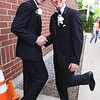 Lowell Catholic's pre-prom promenade. Matthew Belleau of Westford, left, and James Bartlett of Lowell. (SUN/Julia Malakie)
