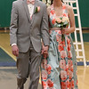 Lowell Catholic's pre-prom promenade. Jake Zawadzki of Dracut and Sarah Ciampa of Tewksbury. (SUN/Julia Malaki e)