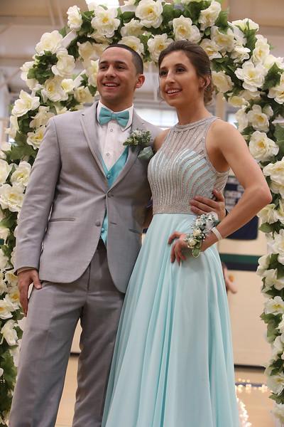 Lowell Catholic's pre-prom promenade. (SUN/Julia Malakie)