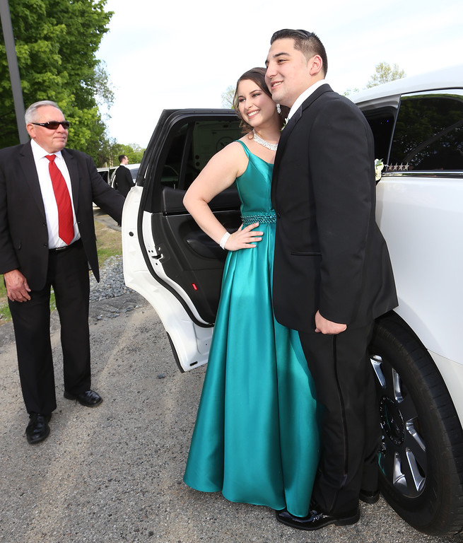 . Lowell Catholic\'s pre-prom promenade. (SUN/Julia Malakie)