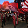 Lowell High Marching Band in Lowell City of Lights Parade 2019. (SUN/Julia Malakie)