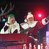 Lowell City of Lights Parade 2019. Santa and Mrs. Clause arrive at City Hall. (SUN/Julia Malakie)