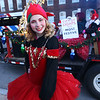 Lowell City of Lights Parade 2019. Dramatically Incorrect Theater Group and Dance Company member Bianka Close, 19, of Lowell. (SUN/Julia Malakie)