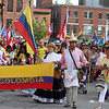 First night of Lowell Folk Festival. Parade to Boarding House Park for opening ceremony.  (SUN/Julia Malakie)