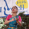 Saturday at Lowell Folk Festival.  Yamini Kalluri & the Carnatic Ensemble, performing Kuchipudi dance. (SUN/Julia Malakie)