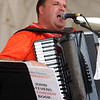 Saturday at Lowell Folk Festival. John Stevens Norkaitis of the John Stevens Polka Band at JFK Plaza playing accordion.  (SUN/Julia Malakie)