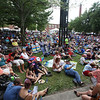 Saturday at Lowell Folk Festival. Crowd for Grupo Cimarron performing Colombian joropo music at Boarding House Park. (SUN/Julia Malakie)