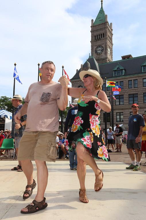 . Lowell Folk Festival.  Dancing to Cajun music of Kyle Huval & the Dixie Club Ramblers at JFK Plaza. (SUN/Julia Malakie)(SUN/Julia Malakie)