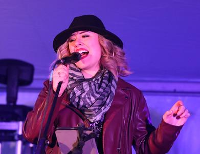 Opening night of Lowell WinterFest 2020. Erika Van Pelt performs in the JFK tent. (SUN/Julia Malakie)