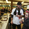 2019 Lowell Winterfest. Joe Gath of Lowell and his daughter Kiera Green, 8, try the Smoked Tomato Bisque at NoLo Bistro & Bar, at the Richard Rourke Memorial Soup Bowl Competition. (SUN Julia Malakie)