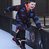 Lowell Winterfest opening night. Robby Karnes, 8, of Woburn, at the skating rink at JFK Plaza. (SUN Julia Malakie)