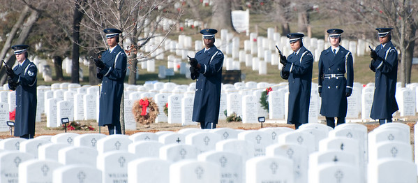 Memorial service at Arlington National Cemetary