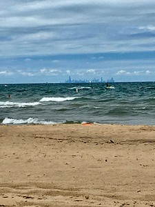 Chicago from Miller Beach, Indiana Dunes