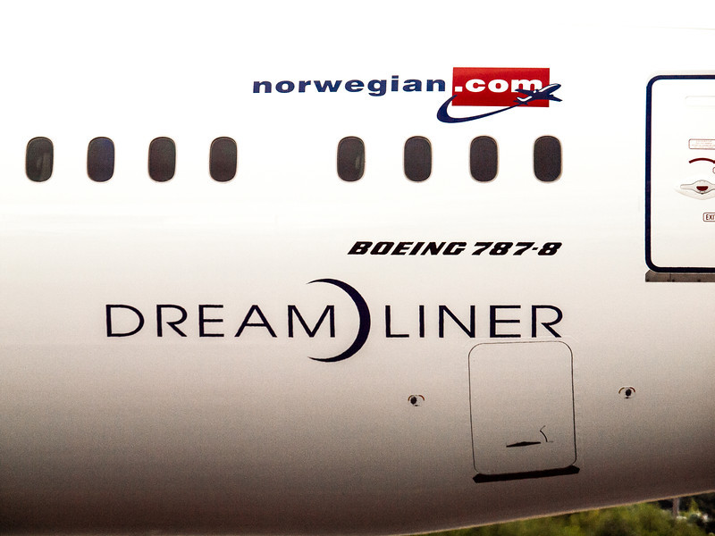 Brand new Norwegian Air 787-B Dreamliner logos.