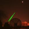 Green Laser at Moon