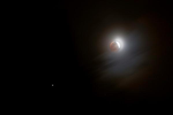 Lunar eclipse & Saturn