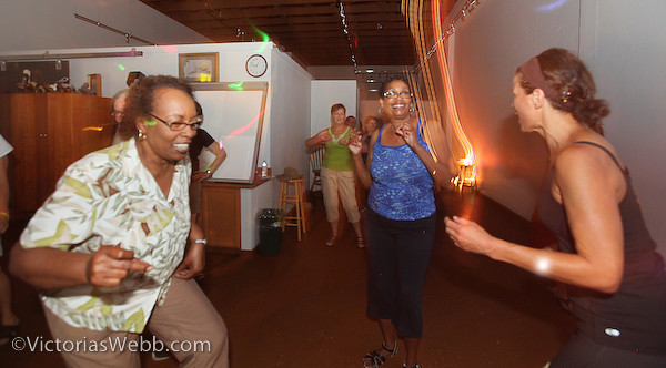 L to R Gloria Robinon, Annette Johnson and Dorian Bartley at the Lunch Beat held at The Pelican Art Gallery on July 11, 2012. Music by DJ Val Richman. Photos by Victoria Webb