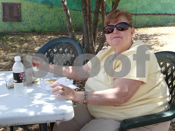 Ruth Bennett enjoying the delicious food.