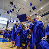 5/26/16 LUNENBURG--  Lunenburg class of 2016 tossing their caps into the air on Friday at Lunenburg High School.  Sentinel & Enterprise photo/Jeff Porter