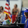5/26/16 LUNENBURG-- Class of 2016 Vice President Elena Arciprete gives greeting to guests on Friday at Lunenburg High School.  Sentinel & Enterprise photo/Jeff Porter