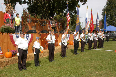 Photos by Weldon Photography Sen. Judy Schwank and Topton Legion Honor Guard at the 30th annual Lyons Fiddle Festival held at Lyons Community Park in Lyons on Sept. 15.