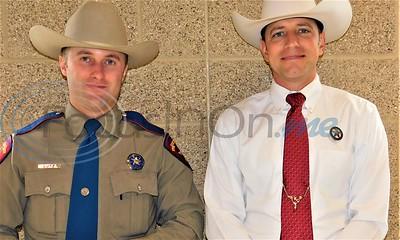 Right  MADD board member Texas Ranger Nic Castle