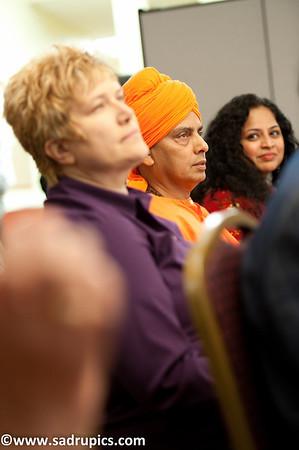 L-R Ms. Marta Pereyra, Executive Director - CLESE, Swami Devapriyananda, Ms. Indira Naik