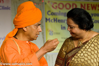 Swami Devapriyananda and Ms. Santosh Kumar, Exec Dir of MAFS