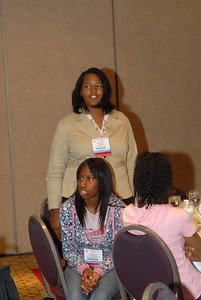 EB2007:  Student asks a question during MARC Student Day Program & Luncheon.
