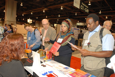 EB2007:  Visitors at the AAA Exhibit Booth.