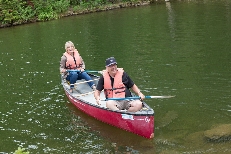 To the canoes