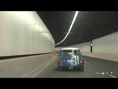 "This is a teaser from our MINI AUnited 2009 video promotion  ... its just a segment from the long version featuring the tunnel run music from ""The Italian Job"""