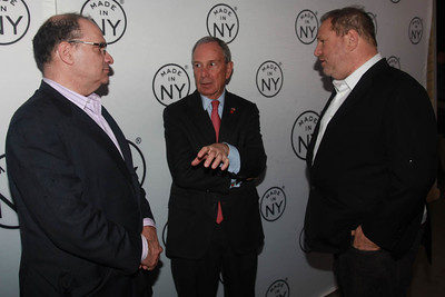 Bob & Harvey Weinstein With Mayor Michael Bloomberg