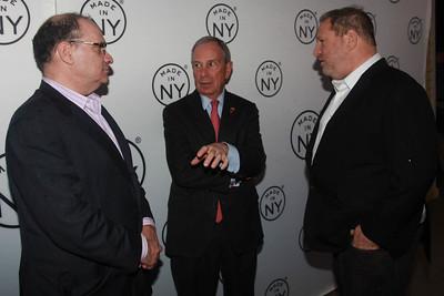 Bob & Harvey Weinstein With Mayor Michael Bloomberg