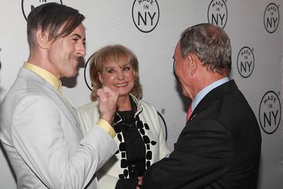 Alan Cumming, Barbara Walters, & Mayor Michael Bloomberg
