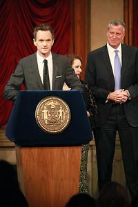 Neil Patrick Harris & Mayor Bill DeBlasio