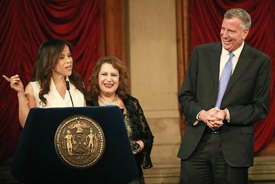Rosie Perez & Mayor Bill DeBlasio