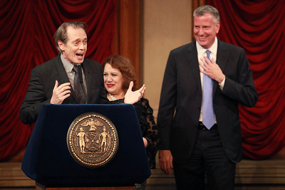 Steve Buscemi & Mayor Bill DeBlasio