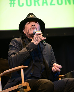 NEW YORK, NY April 16: Carlos on stage HBO Latino preview of the new special SANTANA DE CORAZØN at the Hudson Theater VIP Screening in NYC.