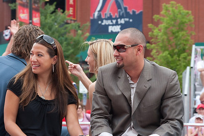 "Shane Victorino, Phillies, 2009 MLB All Star Game ""Red Carpet Show"", St. Louis, MO"