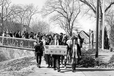 Rahsaun Fletcher leading MLK March