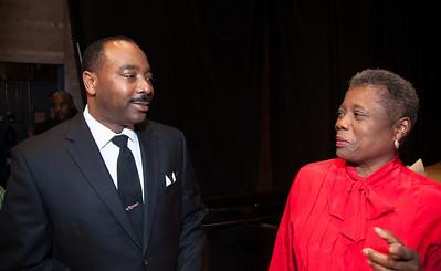 Gregg Riley as Dr. Martin Luther King Jr. Brenda Shelton