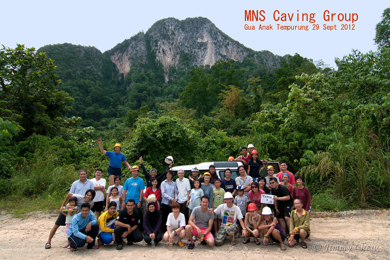 Group photo just before hiking to the cave entrance.