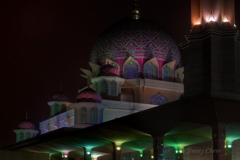 Close-up of Masjid Putra.