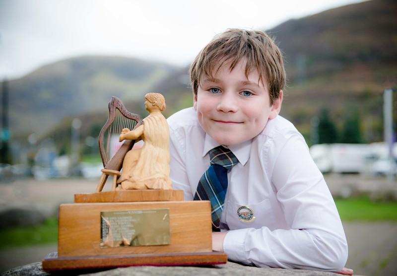 Ardal Slorach wins Clasach award! The Helmsdale trophy B321