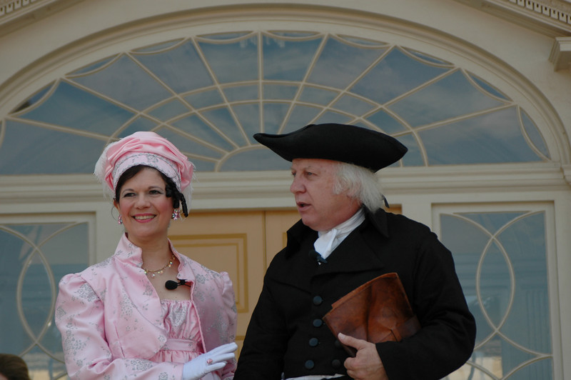 James and Dolley Madison; I took this photo September 17, 2008. Celebrating the $24 million 5 year facelift of Montpelier.<br /> Nestled in the foothills of the Blue Ridge Mountains in Orange, VA., Montpelier was the life long home of James Madison. Madison was raised at Montpelier, lived here after his marriage to Dolley, he returned here after his presidency, and died here in his study surrounded by the books and papers that marked so much of his life's work.