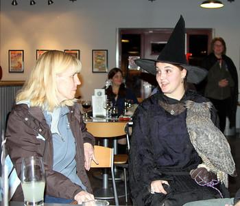 Cindy visits with Gina Maria & Arc.